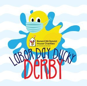 The Labor Day Ducky Derby 2020 is September 7, 2020 at Knight's Action Park, the proceeds will support the Ronald McDonald House Charities of Central IL.