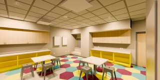 3rd Floor Play Room at the new Peoria Illinois Ronald McDonald House built by Ronald McDonald House Charities of Central Illinois