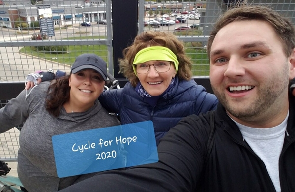 Check out Brian Replogle, Annie Spears and Jill Booth from their 7.6 mile bike ride! Incredible!