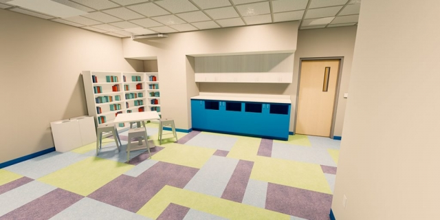 Dax Play Room at the new Peoria Illinois Ronald McDonald House built by Ronald McDonald House Charities of Central Illinois