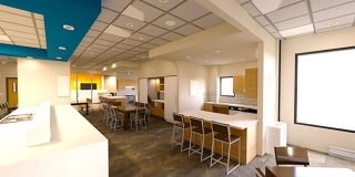 Dining Area at the new Peoria Illinois Ronald McDonald House built by Ronald McDonald House Charities of Central Illinois