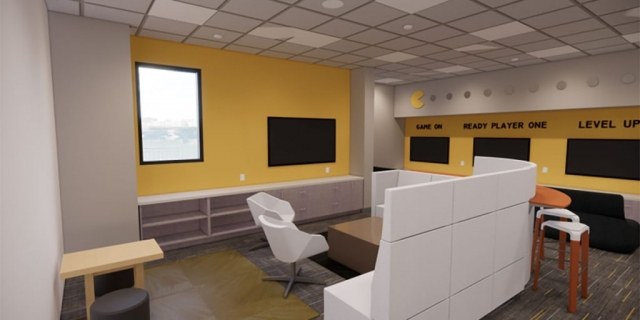 Game Room at the new Peoria Illinois Ronald McDonald House built by Ronald McDonald House Charities of Central Illinois