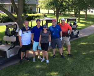 Golfers at 2018 Golf Classic