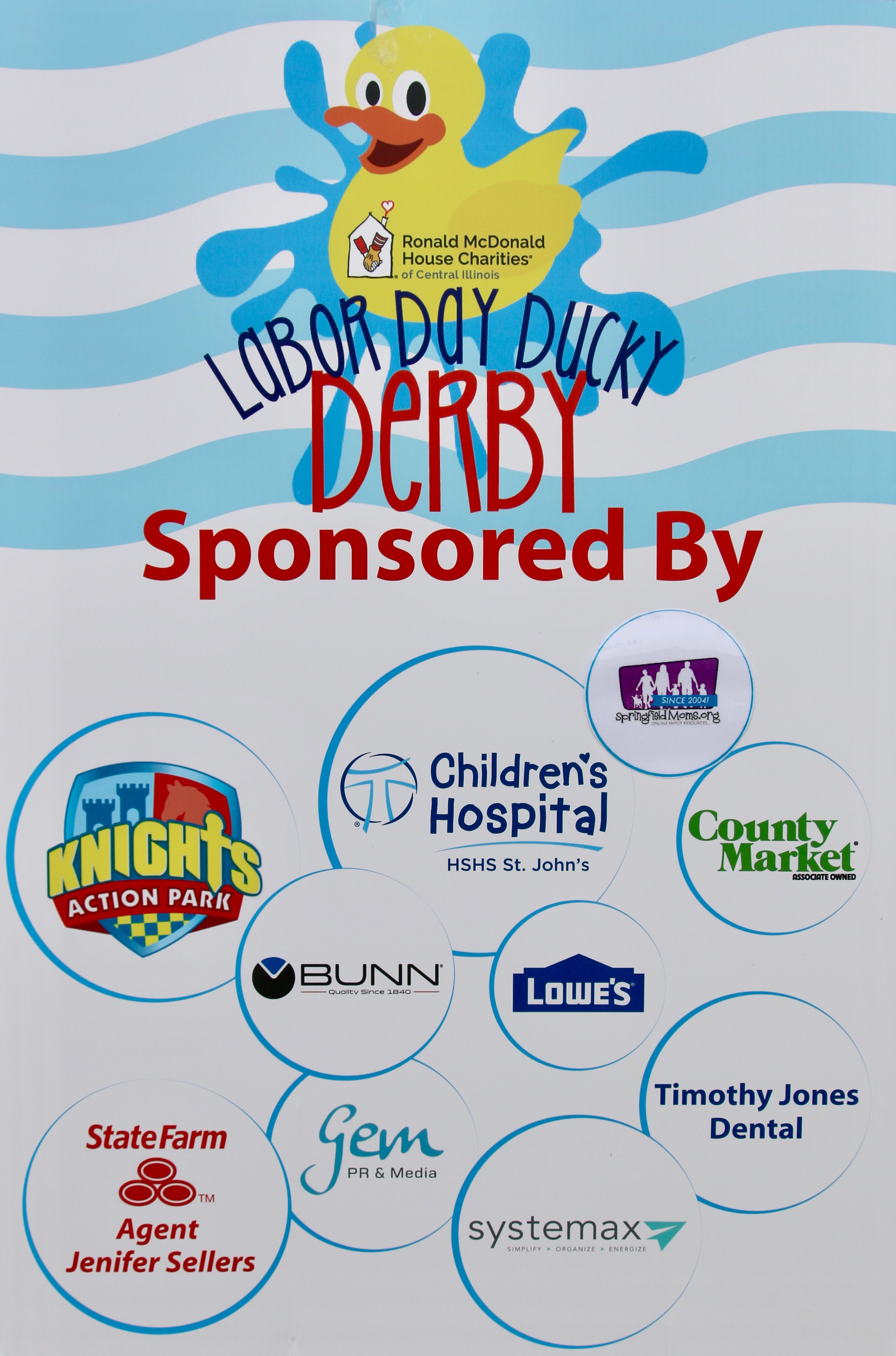 Thank you to all of our sponsors of the 2017 Labor Day Ducky Derby!