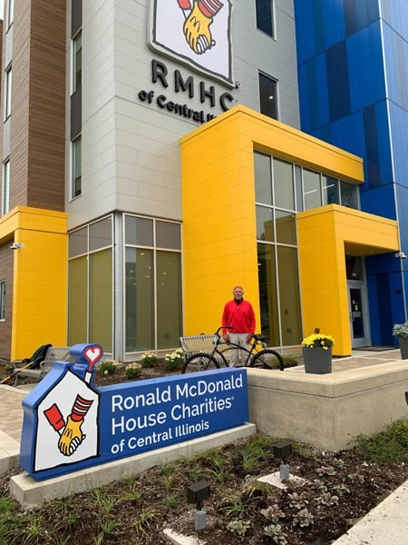 Check out Jerry Sweet (Jill's Team)! He rode his bike from the Northside of Peoria to the Ronald McDonald House this morning!