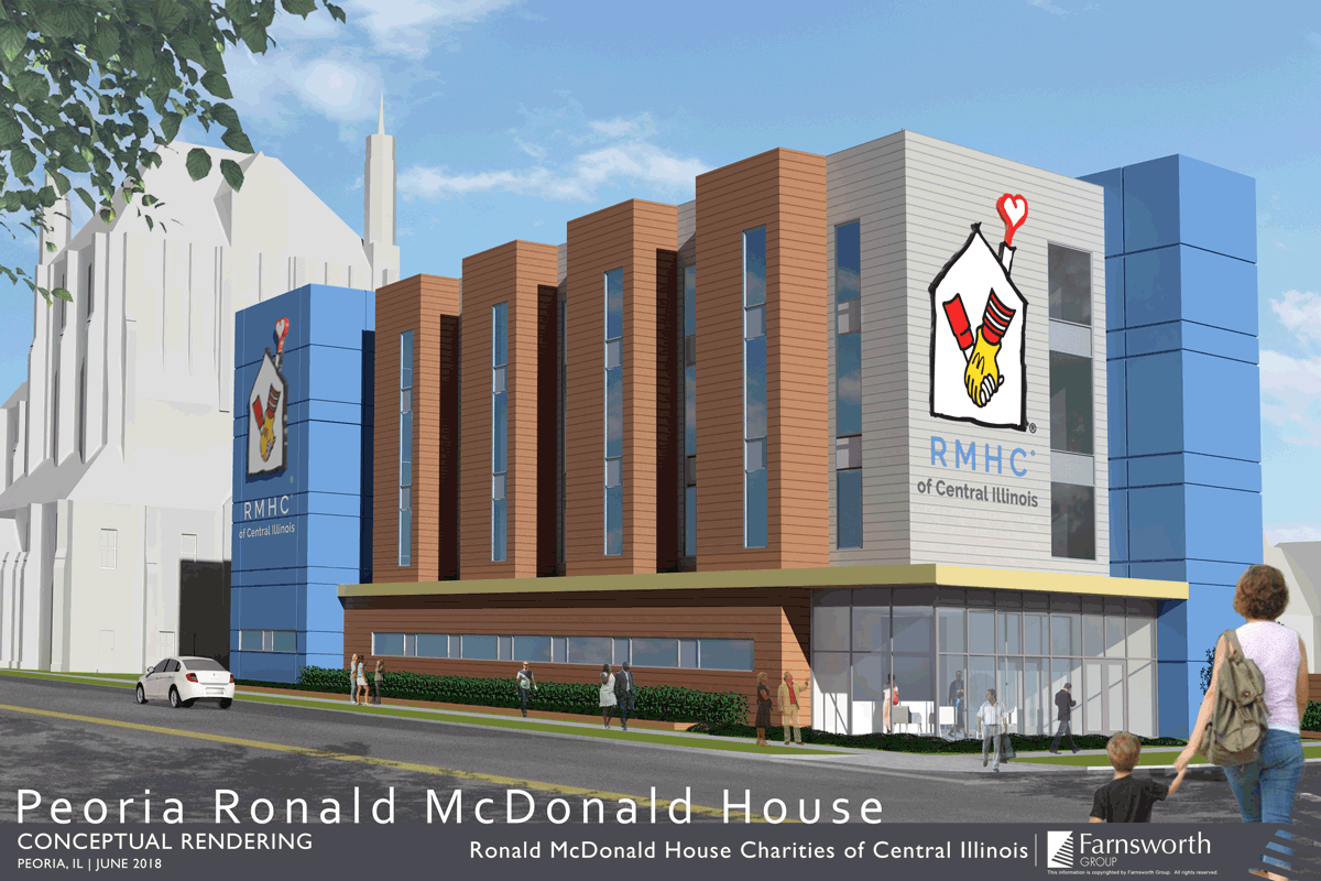 Peoria, IL Ronald McDonald House rendering drawing