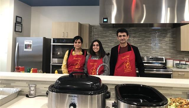 Hamida's Kitchen in Peoria sponsored one of the two family kitchens in the House and they continue to support it by providing a weekly meal at the House!