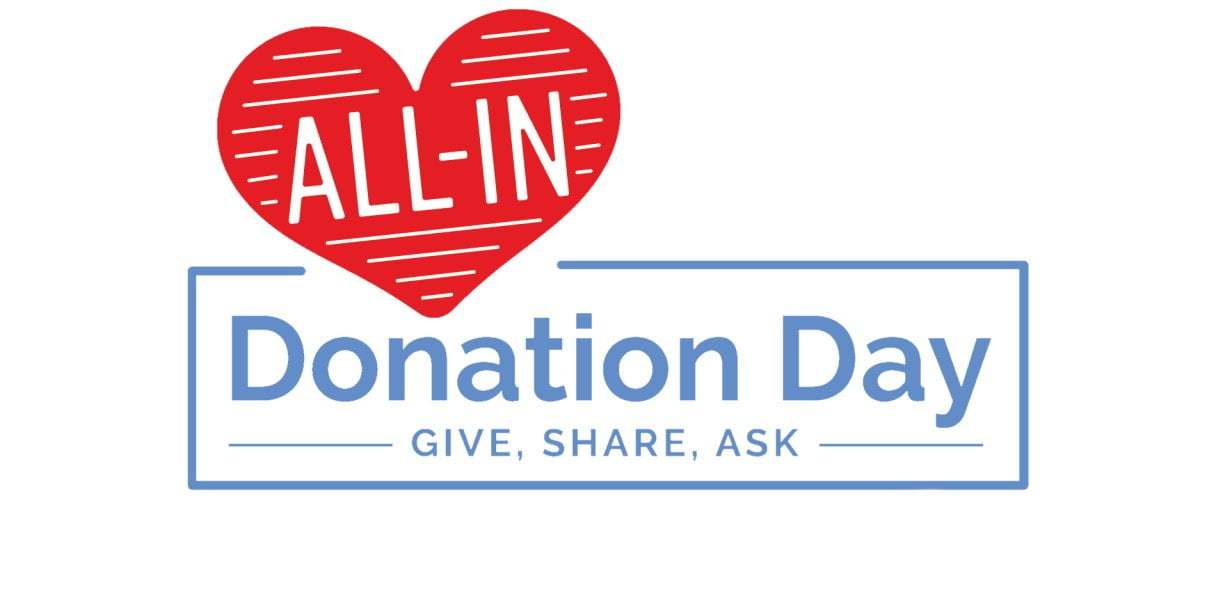 All-In Donation Day is March 9, 2021!