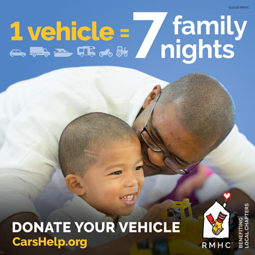 Go to www.CarsHelp.org to start the process of donating your vehicle to help Ronald McDonald House Charities of Central Illinois!
