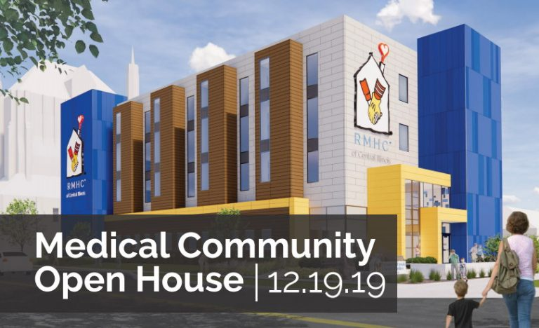we're inviting the entire central Illinois medical community to come tour the new Peoria Ronald McDonald House®.