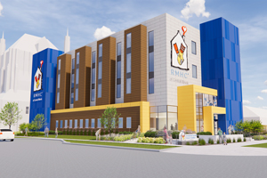 RMHC Central Illinois - Peoria Ronald McDonald House exterior rendering