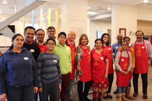 The Asian Indian Community of Peoria sponsored the family dining room at the Peoria Ronald McDonald House, and they came back to support the House on February 16 as guest chefs.