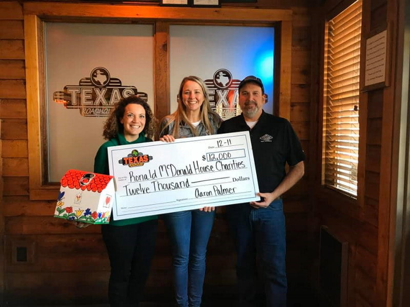Thank you to the Texas Roadhouse - East Peoria, IL for donating $12,000 in gift cards to the families who will be staying at the Peoria Ronald McDonald House®!