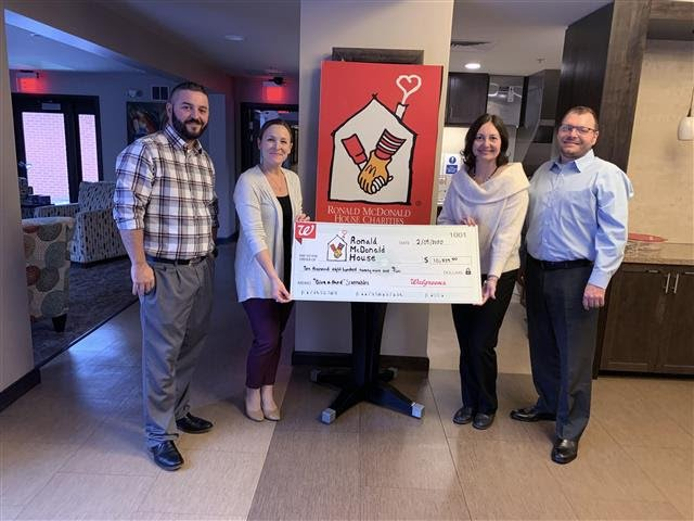 Walgreens recently gave $10,829.00 to select Ronald McDonald House Charities Chapters as a result of their 2019 scannables campaign.