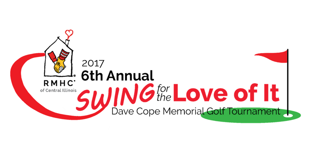 "Join us for the 6th Annual Dave Cope ""Swing for the Love of It"" Memorial Golf Tournament on Tuesday September 12, 2017! The tournament will be held  at WeaverRidge Golf Club in Peoria, beginning at 10:00 a.m."