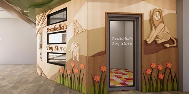 Toy Store at the new Peoria Illinois Ronald McDonald House built by Ronald McDonald House Charities of Central Illinois