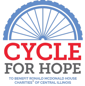 Cycle for Hope Fundraiser - A brand-new fundraising event to Benefit Ronald McDonald House Charities of Central Illinois on October 3, 2020.