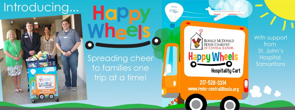 Happy Wheels is a new program launched in Summer 2015 that is designed to serve families who wait for hours without leaving the hospital or their child's bedside. Ronald McDonald House Charities of Central Illinois is committed to serving as many families of seriously ill children as possible.
