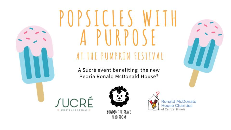 Popsicles with a Purpose at Sucré at the Morton Pumpkin Festival from September 11-14, 2019