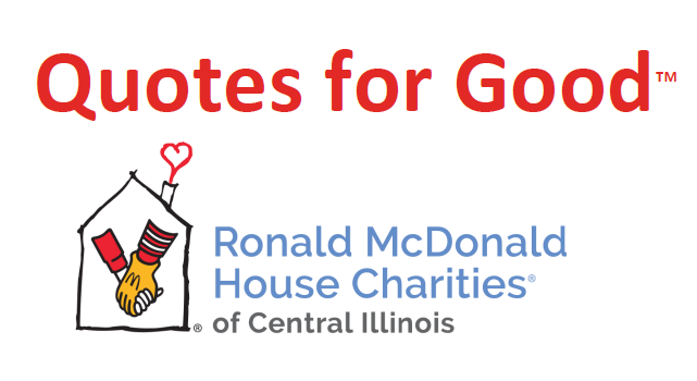 "If you are not a current State Farm customer, please contact Russ's office for a no-obligation quote for auto insurance and be sure to mention ""Quotes for Good"". Each quote provided will result in a $10 donation to RMHCCI!"